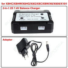 2In1 7.4V 2S Lipo Battery Balance Charger+Adapter For Syma X8HC X8HW X600 X101