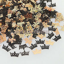 Cute Brone Black Small Crown Shape Metal Nail Art Sequins Decals Phone Stickers
