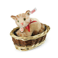 STEIFF 034374 Ginny kitten in basket   LTD ED.