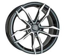 "18"" NISSAN QASHQAI ALLOY WHEELS 5X114 BLACK POLISHED 5 STUD (07 ONWARDS)"