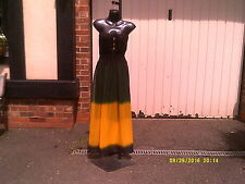 Dress, Jamaica National Flag colour Chiffon  Maxi dress.......One Size