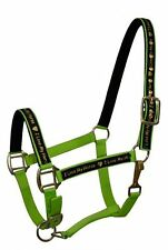 "LIME GREEN Nylon Horse Halter with ""I Love My Horse"" Overlay! NEW HORSE TACK!"