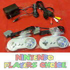 AC Adapter Power Cord + AV Video Cables + 2 Controllers for Super Nintendo SNES