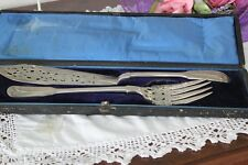 ANTICHE POSATE DA PESCE IN ARGENTO STERLING gr 324 - OLD SILVER FISH SERVER