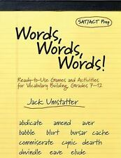 Words, Words, Words: Ready-to-Use Games and Activities for Vocabulary Building,