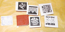 Collage art stamps rubber stamp set lot cling back cushion king leaves music