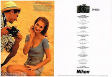 Publicité Advertising 1990 (2 pages) Appareil Photo Nikon F-401 S