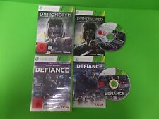 Xbox 360 Spiele *Defiance (KInect) + Dishonored Maske des Zorns* Anleitung & OVP