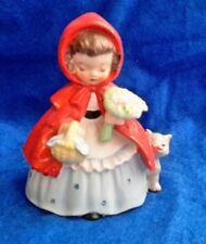 Vintage NAPCO Little Red Riding Hood Nursery Rhyme Figurine S1492A