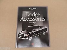 2002 Dodge Ram 1500 2500 3500 Dakota Accessories Brochure dealer catalog