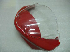 Front cowl nose fairing+Windscreen for Ducati Monster 696 796 1100 1100S EVO-Red