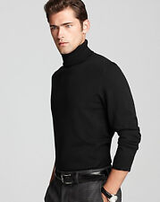 Ultra Soft Mens Turtle Neck Sweater Shirt in Black by St John's Bay,