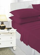 Small Double 4FT Plain Dyed Fitted Sheet , Available In 11 Colours, Pillowcases