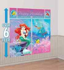 Little Mermaid ARIEL Scene Setter Birthday Party Supplies Wall Decoration Kit