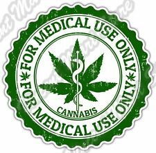 Marijuana Cannabis Medical Use Drug Weed Pot Car Bumper Vinyl Sticker Decal 4.6""