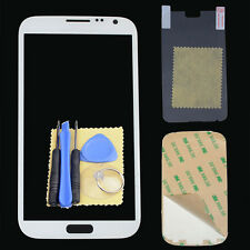 Front Outer Screen Glass Replacement For Samsung Galaxy Note 2 N7100 White