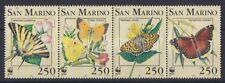 San Marino 1993 Endangered Butterflies set of 4 with WWF Logo MNH