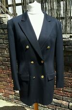 Blazer Double Breasted Navy Blue with Gold Buttons by Jobis - Large 16-18