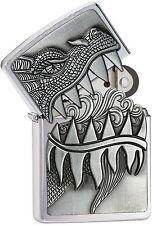 Zippo 28969, Dragon, Surprise Lighter, Brushed Chrome Finish Lighter, Full Size