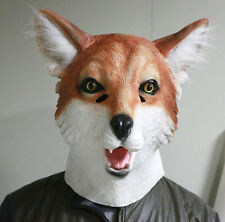 Fox Mask Movie Foxy Animal Dog Mask Fancy Dress Stag Party Costume