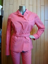 $1975 New JIL SANDER Bright Coral Bright Red Condor Stretchy Belt Jacket 12 42