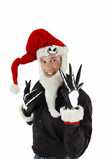 Disney NBX Nightmare Before Christmas Santa Jack Adult Hat W/ Beard & Gloves Kit