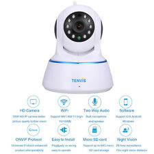 Tenvis 720P HD Home Wireless WiFi Network IP Camera Pet Baby Monitor 2-Way Audio