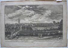 Eschenau Erlangen Gesamtansicht Mittelfranken Orig Kupferstich C. M. Roth 1780