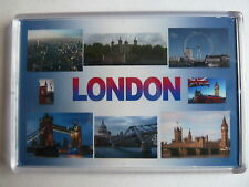 LONDON - JUMBO FRIDGE MAGNET -  Houses of Parliament, Big Ben, Eye, Tower Bridge