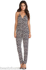 $210 T Bags Halter Jumpsuit w/ Lace Back in a Heart Print sz M