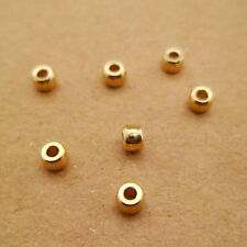 100pcs 3mm Yellow Raw Brass Barrel Beads Seed Beads Hole 1mm for Beaded Jewelry