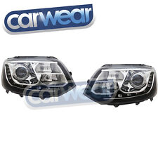 VOLKSWAGEN T5 10-UP R87 BLACK LED DRL HEADLIGHTS W/LEVELING MOTORS Transporter