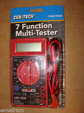 Cen-Tech 7 Function Multi-Tester new Digital Multimeter