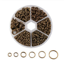 1 Box Mixed 4~10mm Iron Double Jump Rings Split Rings Antique Bronze Nickel Free