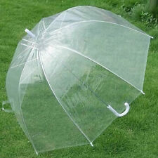 Clear Dome See Through Mushroom Umbrella Handle Transparent Walking Umbrella