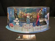 Disney Store Authentic Frozen 6 Piece Play Set Figures Elsa Anna Olaf Sven Hans