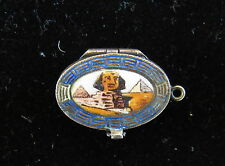 Beautiful 1920s Charm! Antique Silver & Gold Egyption Shinx Pyramid Baby Moses