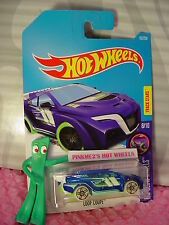 2016 i Hot Wheels LOOP COUPE #53☆Blue/Green/White☆GLOW Wheels☆Case Q/2017 A