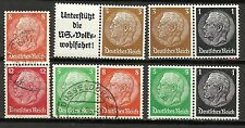 2832-GERMANY REICH STAMPS COLLECTION LOT COMBINACIONES.zusammendrucke.VARIEDADES