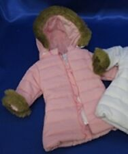 """Lovvbugg! Pink Puffy Coat for 18"""" American Girl & Bitty Baby Doll Clothes"""