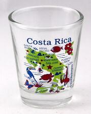 COSTA RICA CENTRAL AMERICA MAP CLEAR SHOT GLASS SHOTGLASS