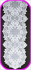 Table Runners Cleremont 14x54 White Lace Runner Heritage Lace NWOT