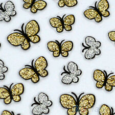 2PCS Butterfly Nail Art Stickers Decals Nail Tips Decoration Manicure CAHF
