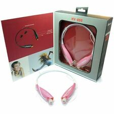 Sports Bluetooth Wireless Handsfree Stereo Headset Earphone Headphone - Pink