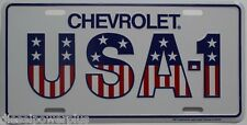 Chevy Chevrolet truck white license plate tag usa New 4 door reg cab 4x4 extend