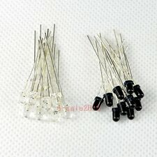 20pcs 3mm 940nm LEDs infrared emitter and IR receiver 10pairs diodes F3 NEW 300A