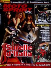 Motosprint 2 2010 Speciale Salone Milano. Test Valencia con novità Mondiale 2010