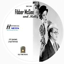 FIBBER McGEE AND MOLLY - 777 Shows Old Time Radio In MP3 Format OTR On 7 CDs