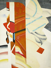Geneviève HUGON (1945) MODERNE/ABSTRAIT Lithographie signiert Abstract cubist