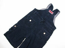 P244/32 Jojo Maman Bebe Baby Boy Blue Cotton Cord Dungarees, age 3-6 month